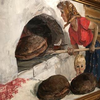 Engels Vasilevich Kozlov - Russian Mother Baking Bread